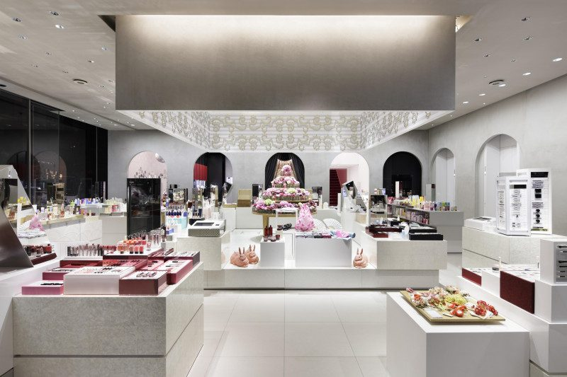 「SHISEIDO THE GINZA」1楼的「BEAUTY MARCHE」
