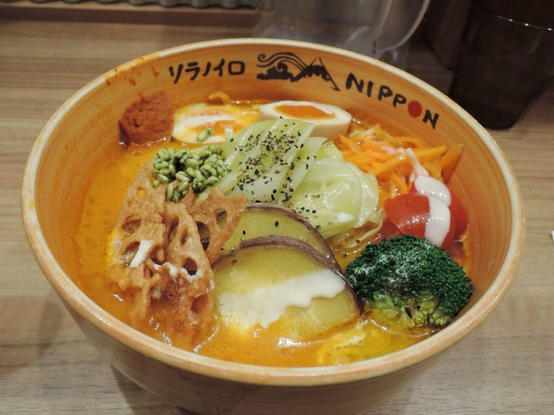 Soranoiro nippon original vegetable ramen in tokyo station there was a bit of a line at first but the turnover was quick i was inside within about 10 minutes it was only another 5 minutes after handing over my fandeluxe Document