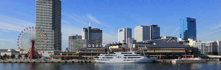 "Would you like to shop and hang out?  Go to ""Kobe Harborland"" in the bay area of Kobe."