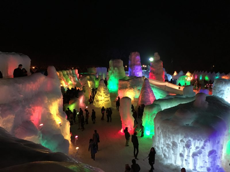 Ice Fall Festival in Sounkyo
