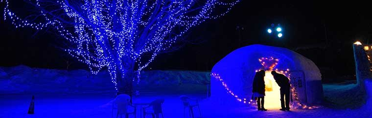 "Aomori Prefecture's Festival of Snow, Lights, and Fireworks, ""Lake Towada Winter Story"""