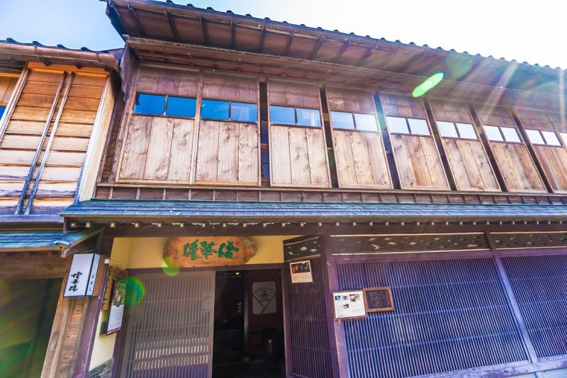 Kaikarou is the biggest tea house in Kanazawa