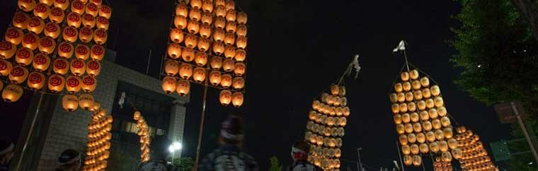 "One of the Three Great Festivals of Tohoku, ""Akita Kanto Festival"""