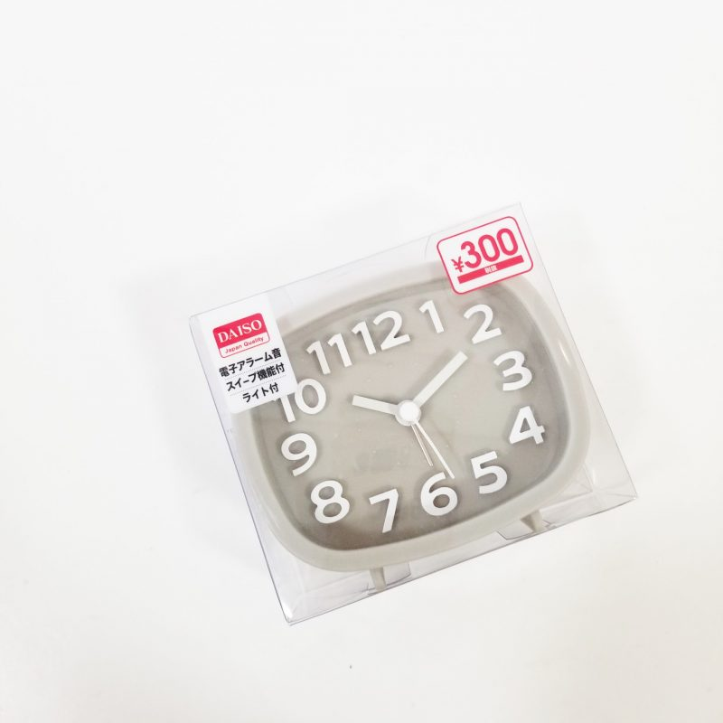 Alarm clock with light in a new grey colour