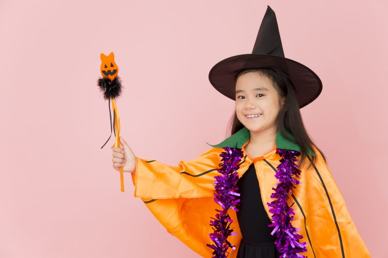 Girl in Halloween Costume