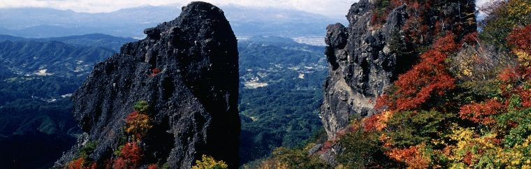 Viewing Fall Foliage in Fukushima: Ryozen Prefectural Natural Park that Offering Pleasant Experience of Climbing and Wonderful View of Fantastically Shaped Rocks and Hills Blanketed with Fall Foliage!