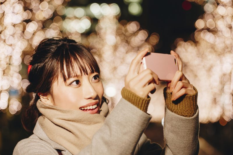 Take pictures of illuminations and post them on your SNS right away ♪