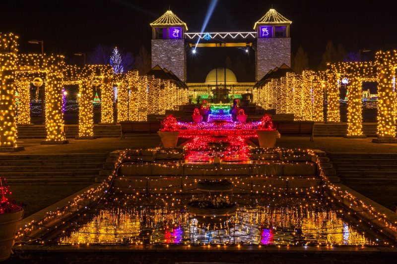 Fantastic illumination with theme of flowers and fairies