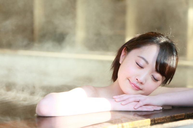 Relax your mind and body in a hot spring