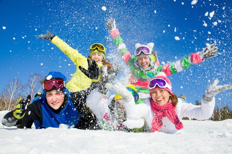 Enjoy winter to the fullest at a snow resort!