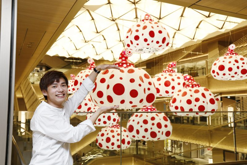 "Yayoi Kusama's ""Pumpkins"" are Suspended in the Middle of the Atrium"