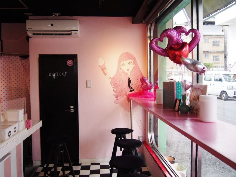 The interior decoration of the shop