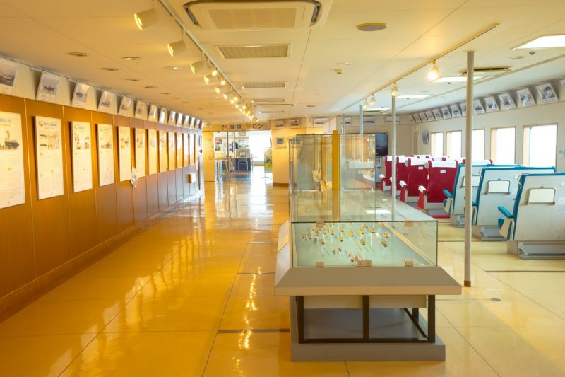Exhibition Corner, with History of the Aomori-Hakodate Connection