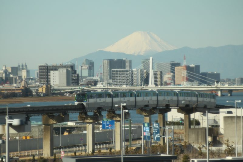 You can see Mt. Fuji on clear days