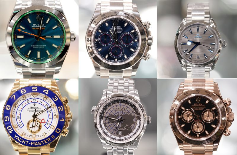 Luxury watches from around the world are collected in Japan