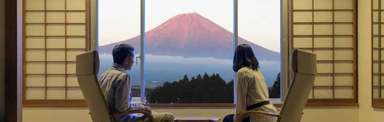 """Kyukamura Fuji,"" Shizuoka Lodging with a View of Mt. Fuji from Every Room"