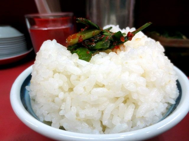 Rice with Nira on top