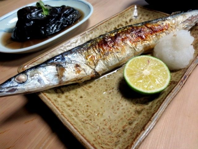 Grilled, salted mackerel pike  ¥600