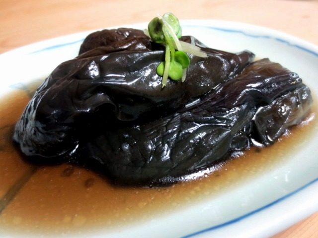 Whole simmered eggplant   ¥350