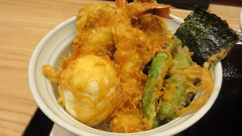 Tendon (2 Shrimp, 2 Vegetables, 1 Seafood, 1 Tempura Soft-Boiled Egg)