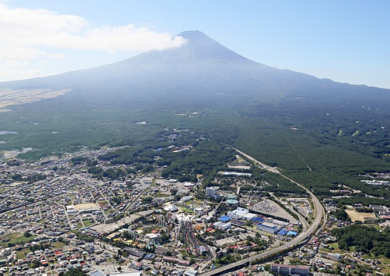 Fuji Q Highland is located at the base of Mount Fuji