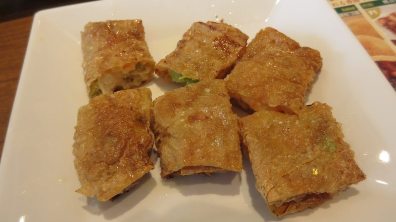 Fried shrimp and tofu skin spring rolls  ¥734
