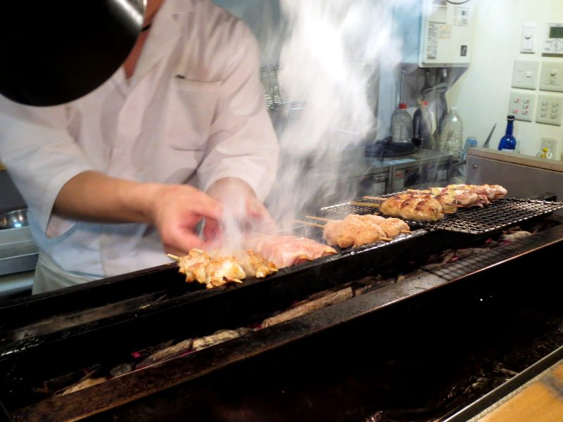 Yakitori prepared right in front of you