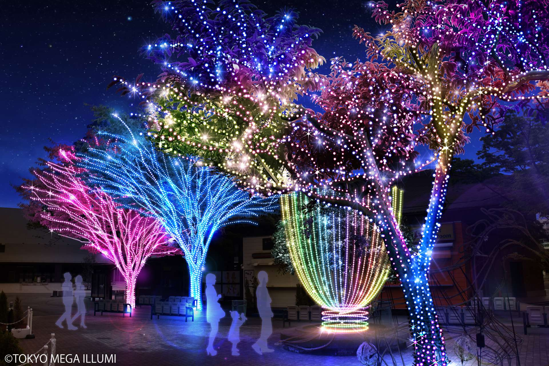 Whether as a couple, parent and child, or friends, enjoy walking about the beautiful illuminations!