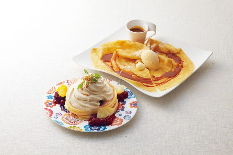 Examples of Pancakes and Crepes from Menu (approx. 1,000 yen)