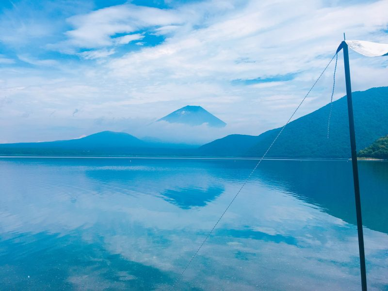 Mt. Fuji Reflected on the Lake