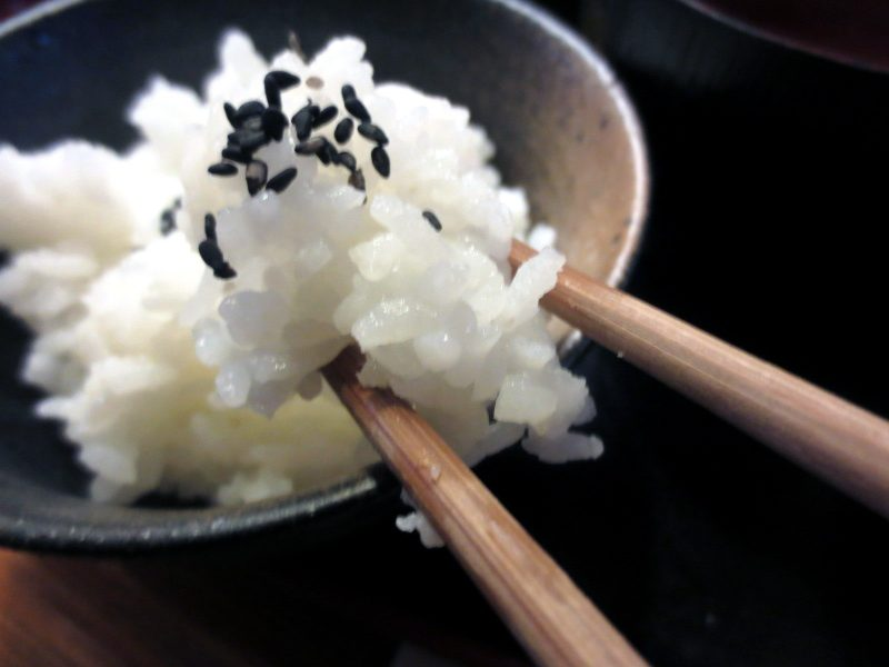 Rice with Black Sesame