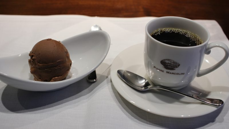 Chocolate Ice Cream and Coffee