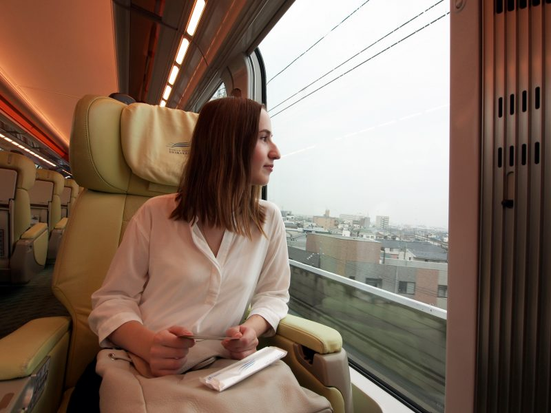This train lets you relax and enjoy the view while you travel