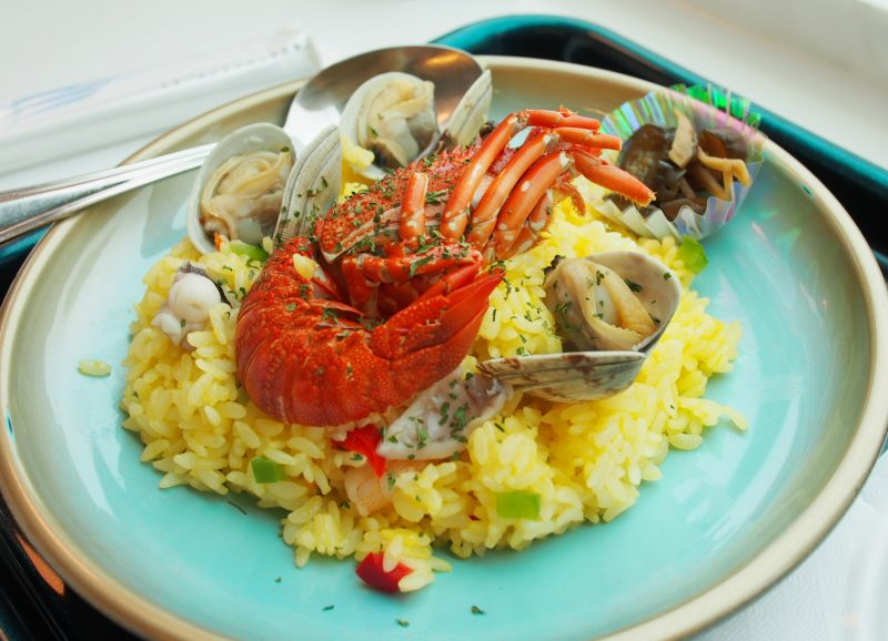 "The ""Seafood Pilaf"" I ordered (1,340 yen)"