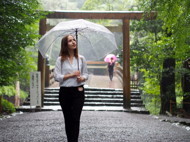 It was raining, but the rain brought out the amazing atmosphere of Ise Jingu even more