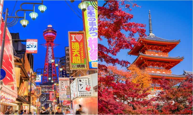 Osaka and Kyoto are Sightseeing Staples