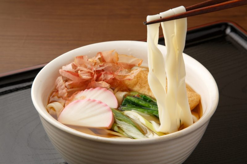 Kishimen is characterized by its flat noodles