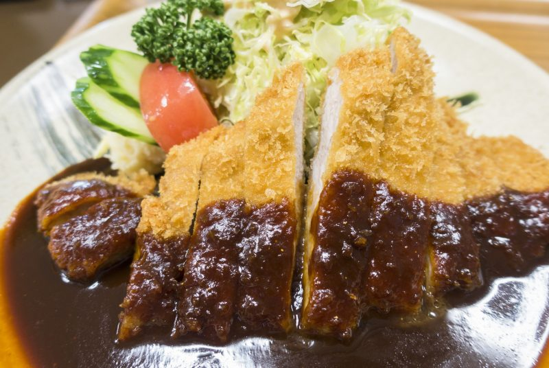 Miso katsu with an appetizing salty-sweet miso sauce