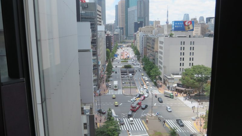 Enjoy viewing the street scenery of Ginza.