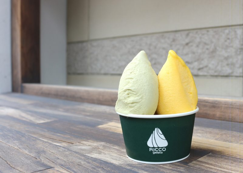 Double scoop 480 yen (Premium gelato for additional 100 yen)
