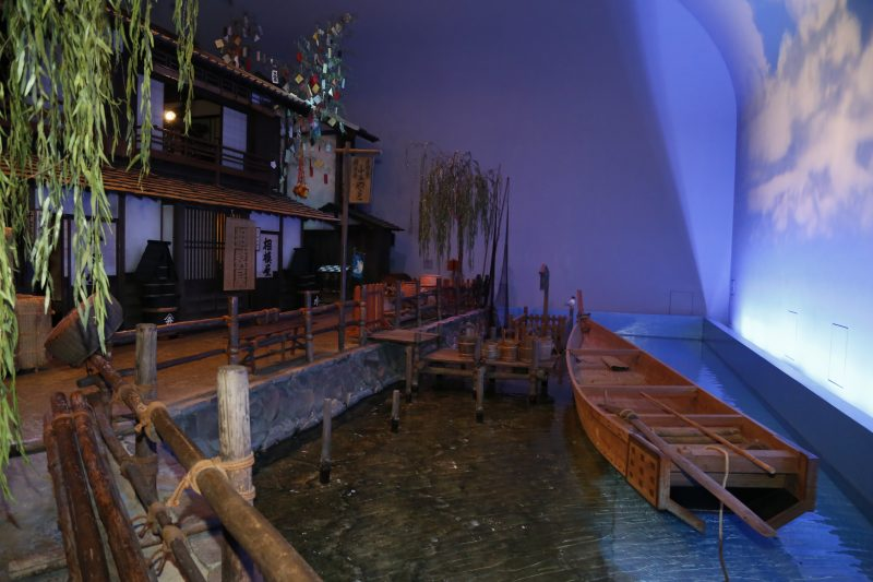 Interior of the museum's reproduction of an Edo period townscape