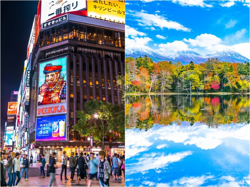 Hokkaido offers both city tourism and beautiful natural landscapes