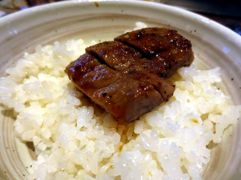 I put some meat on top of my rice…