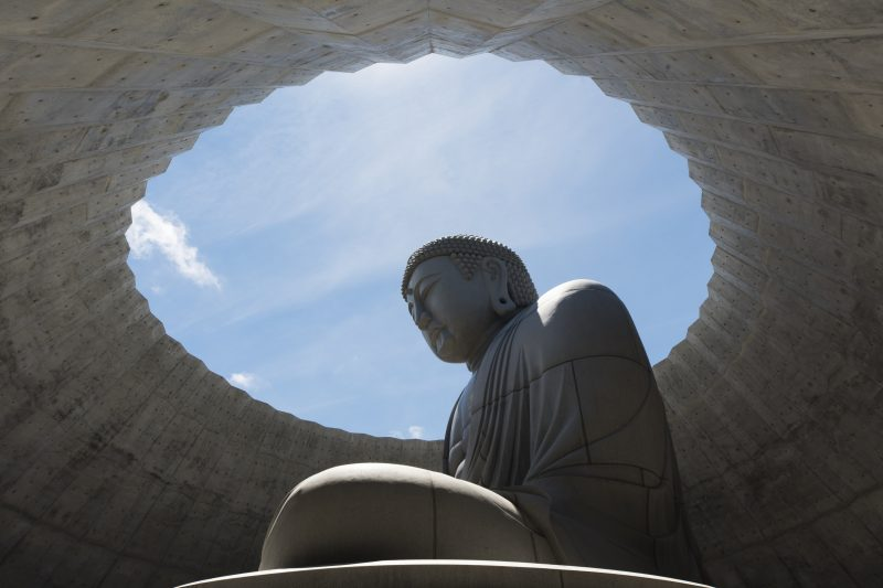 The enormous Buddha is 13.5 meters tall
