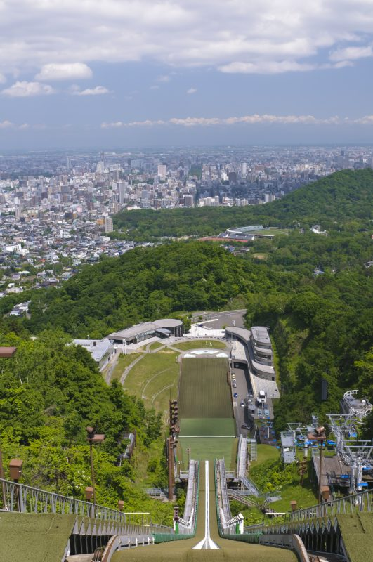 The top of Okurayama Lookout offers a breathtaking view of Sapporo's townscape