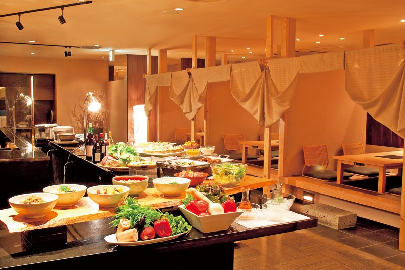 The buffet venue