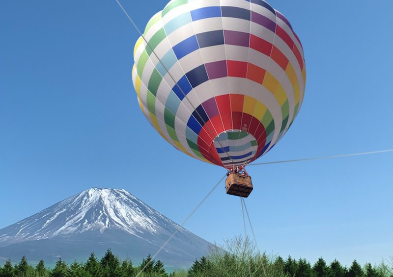 Ride up in a hot air balloon and take in the view!  ※Image is a mockup.