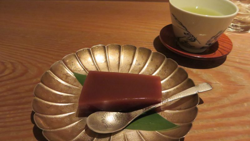 Mizu-yokan, a type of soft red bean jelly.